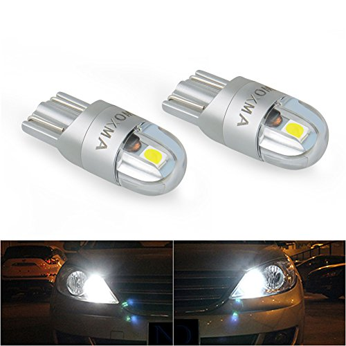 T10 LED Bulb Extremely Bright 3030 Chipset 194 168 SMD W5W LED Wedge Light 1.5W 12V License Plate Light Turn Light Signal Light Trunk Lamp Clearance Lights Reading lamp?6pcs White