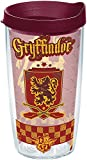 Tervis 1243502 Harry Potter-Gryffindor Quidditch Insulated Tumbler with Wrap and Maroon Lid, 16oz, Clear