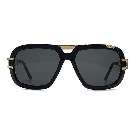 8b76578619 Cazal 8015 Sunglasses in Shiny Black Gold 8015 001 59 59 Gradient Grey   Amazon.co.uk  Clothing