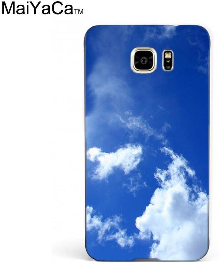 Amazon Com Maiyaca Tm M84435 Blue Sky White Clouds Lockscreen Hd Wallpaper Phone Case For Samsung Galaxy Note5