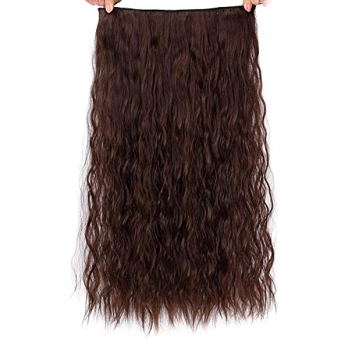 Beauty : AISI BEAUTY 3/4 Full Head Curly Wave Clips in on Synthetic Hair Extensions Hairpieces for Women 5 Clips 4.6 Ounce Per Piece(22'',6#)