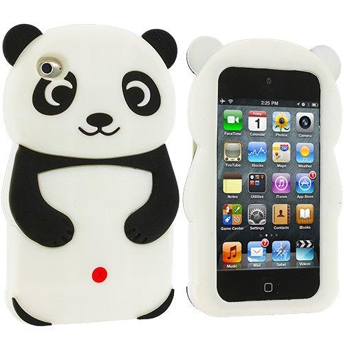 Accessory Planet(TM) Black Panda Silicone Design Soft Rubber Skin Case Cover Accessory for Apple iPod Touch 4th Generation