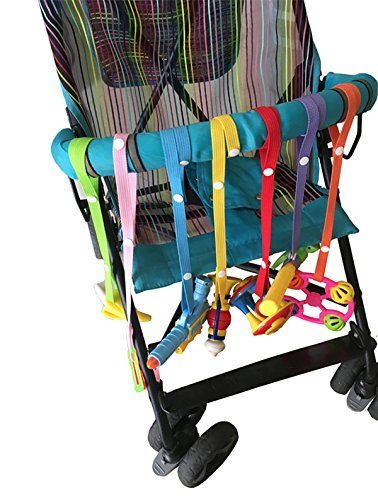 EUBUY 7Pcs Safety Strap Secures Toys Teether,or Pacifiers to