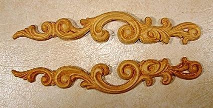 Embossed wood applique onlay  each