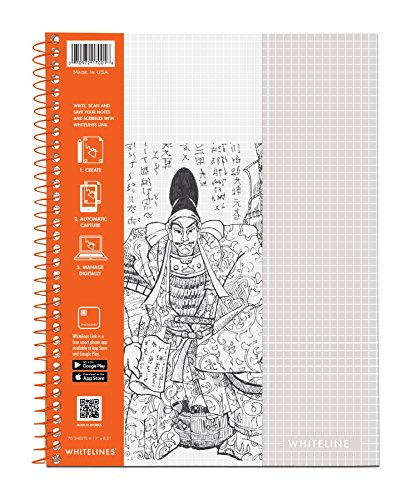 WhiteLines 17001cs Case of 12 Whitelines Notebooks, Grey Lined Paper, Background Disappears When You Scan Pages With Whitelines Free App, Case 11''x8.5'' Graph, Orange by WhiteLines (Image #13)