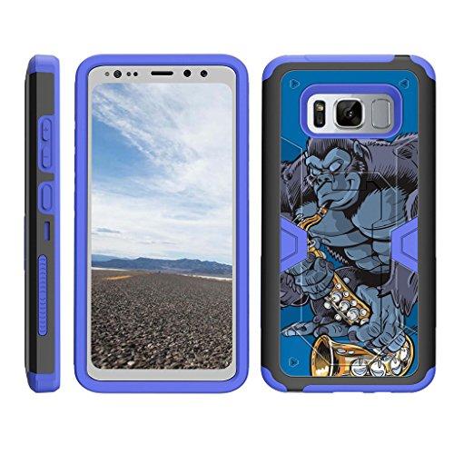- TurtleArmor | Samsung Galaxy S8 Active Case | G892 [Clip Caliber] Advanced Durable Armor Impact Silicone Belt Clip Holster Kickstand Blue Case - Gorilla Saxophone