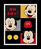 Springs Creative Disney Mickey Mouse Every Day 100% Cotton D/R Print Fabrics, Mickey Oh Boy! Panel, 43/44'' Wide