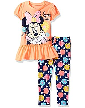 Baby Girls' Minnie Mouse Legging Set with Fashion Top