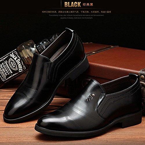 Musta Hengittävä Korkeus Kengät Slip Miehille Klassinen on Muodollinen Miesten Kasvaa Liiketoiminnan 6cm Oxfords Kengät wxaqn1OzC