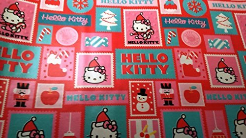 Christmas Wrapping Holiday Paper Gift Greetings 1 Roll Design Festive Wrap Hello Kitty ()