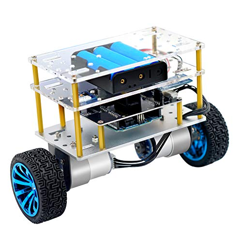 Yahboom Balance Robot Car Compatible with Arduino Electronics Programmable Kit Education Robotics for Kids and Adult Support C Language (UNO R3 Include) (Balance Kit)