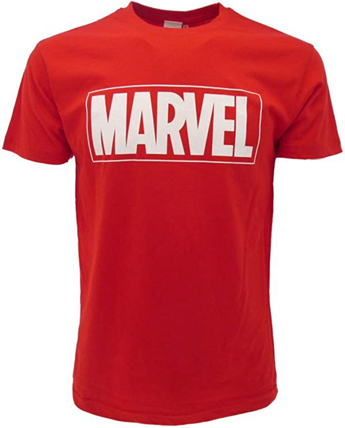 Marvel - Camiseta con Logotipo Oficial de cómics, Color Rojo: Amazon.es: Ropa y accesorios