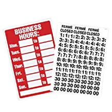 U.S. Stamp and Sign U. S. and Business Hours with Peel Vinyl Characters, 8 X 12-Inch, Poly Resin-9394