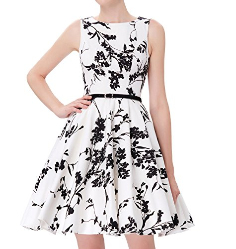 Afforable Belted Cocktail Party Swing Dresses JS6086-11# M