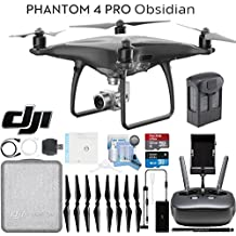 DJI Phantom 4 Pro Obsidian Quadcopter Drone Ready To Fly Bundle