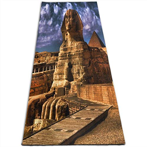 Sphinx Slip - IPOXK Yoga Mat with Mesh Bag Non-Slip Sphinx Wallpapers, Man Made, HQ Sphinx Pictures Exercise Mat for Women/Men