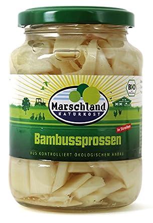 Marschland Bambussprossen Im Glas 350 G Bio Amazon De