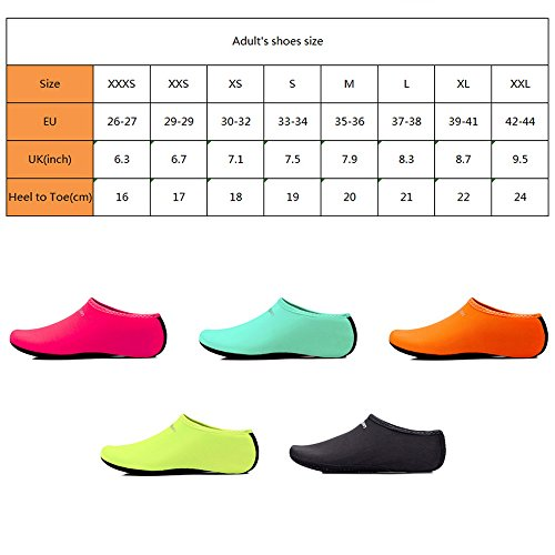 Shoes Water Lightweigh Aqua Orange Quick Barefoot Lashes Diving Unisex Swimming Socks F Dry For WUn84wq