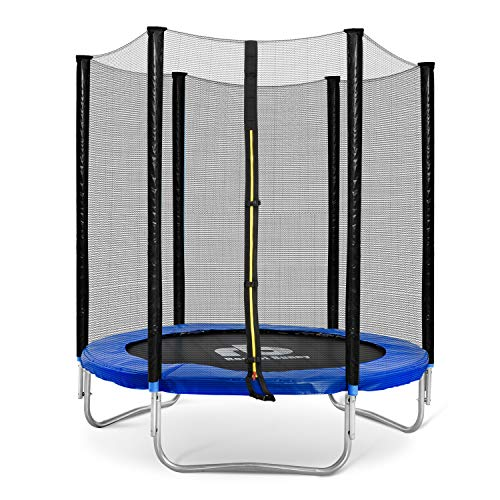 Rocket Bunny Trampoline with Safety Enclosure Netting and Ladder Jumping Mat 6ft/8ft/10ft/12ft