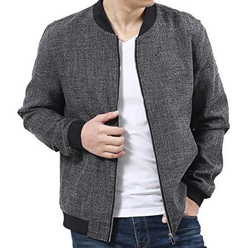 c565ee1b8 Nantersan Mens Bomber Jacket Casual Cotton Softshell Sportswear ...