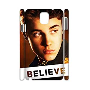 Justin Bieber Personalized 3D Cover Case for Samsung Galaxy Note 3 N9000,customized phone case ygtg-700801