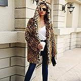 Clearance Sale Ladies Open Front Coat, Womens Hooded Winter Warm Faux Fur Coat Jacket Parka Outerwear (S, Black)