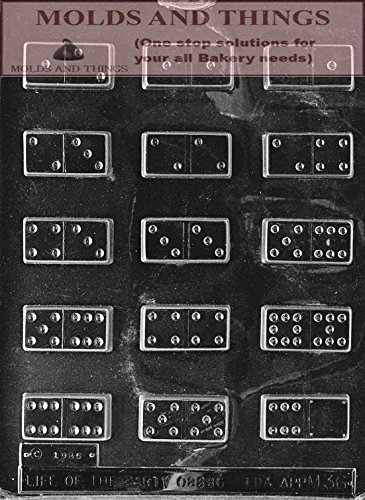 DOMINOES chocolate candy mold Molding Instruction + Set of 2 Domino Chocolate
