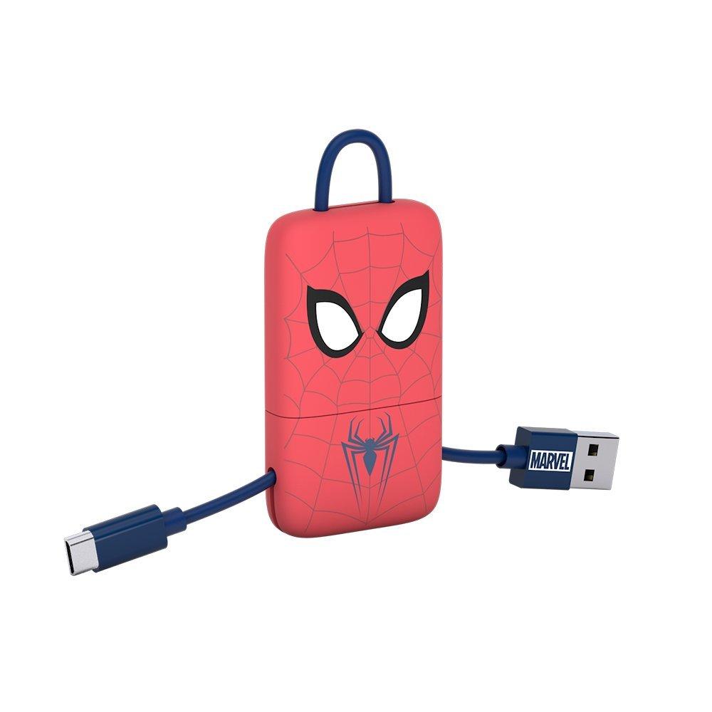 Tribe Spiderman - Llavero USB/Lightning, Color Rojo