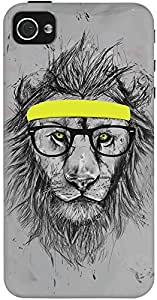 DailyObjects Hipster Lion Case For iPhone 4/4S