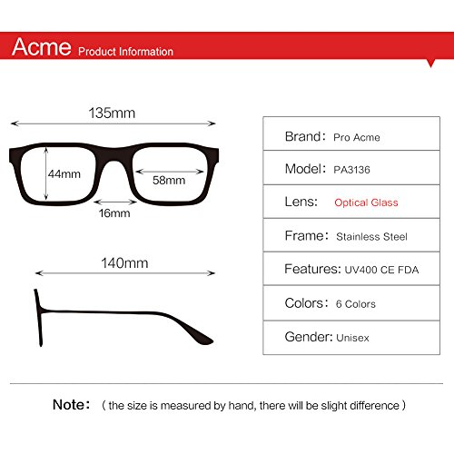 Pro Acme PA3136 Crystal Lens Square Caravan Sunglasses Gold Frame/Crystal Pink Mirrored Lens