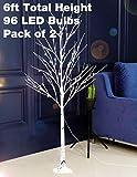 Bolylight 2 Packs LED Birch Tree 6ft 96L LED