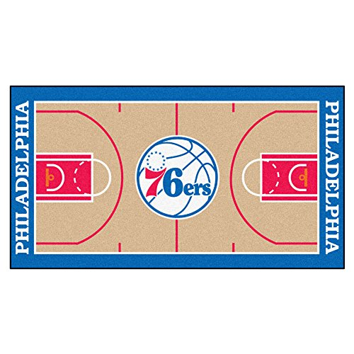 FANMATS NBA Philadelphia 76ers Nylon Face NBA Court Runner-Large