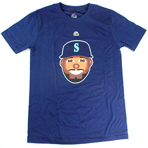 Robinson Cano Seattle Mariners #22 MLB Youth Emoji Name & Number T-Shirt (Youth Large ()
