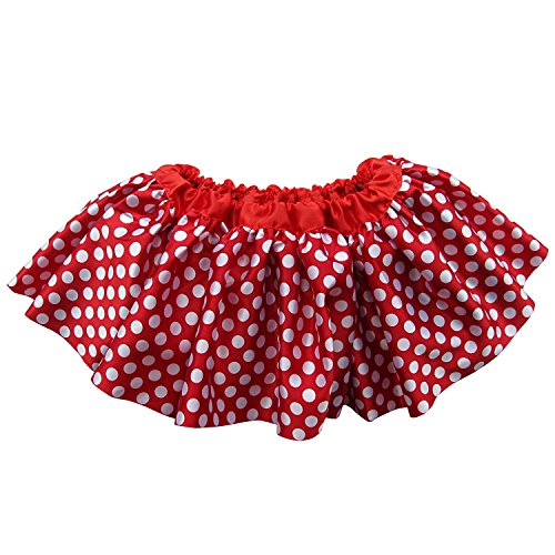 Ballerina Girls Dance Dress-Up Princess Fairy Costume Dance Recital Satin Tutu (Polka Dot Red Minnie)
