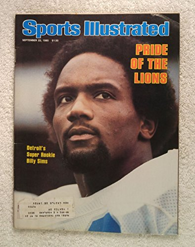 - Billy Sims - Detroit Lions - Sports Illustrated - September 22, 1980 - SI