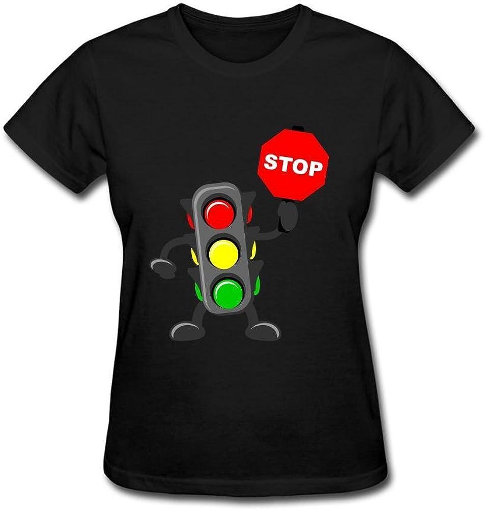 JustLikeSun Women's Cartoon Traffic Light T Shirt