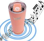 2022 Vibe Speaker Tumbler - 18oz Stainless Steel Tumbler W/Bluetooth Speaker | Upgraded 1000MaH Battery | Up t