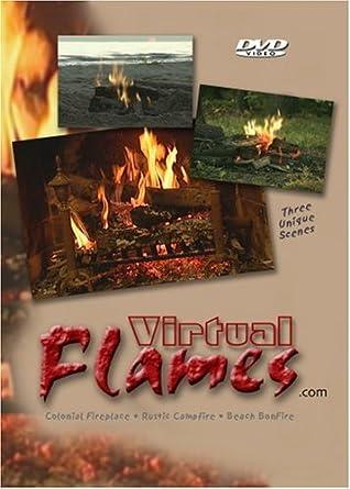 Amazon com: Fireplace DVD Video - Virtual Flames: Virtual