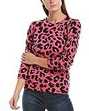 White + Warren Womens Puff Shoulder Cashmere Crew Sweater, M, Pink