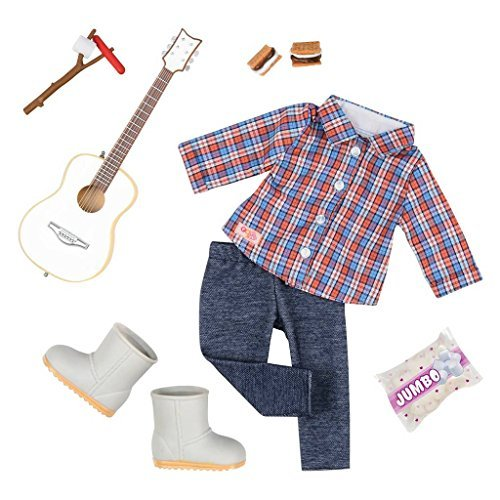 Our Generation Campfire Cutie Camping Outfit with Guitar for 18 Dolls Camp Outfit