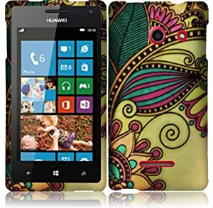 For Huawei Ascend W1 H883G Hard Design Cover Case Antique Flower Accessory
