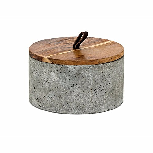 Imax Lidded Box - Imax 60237 Becker Short Lidded Box, Gray
