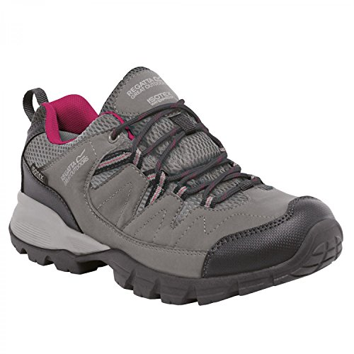 Regata Great Outdoors Womens / Ladies Holcombe Basse Scarpe Da Trekking Nero / Metile