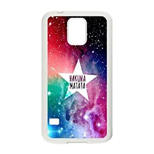 K-G-X Phone case For Samsung Galaxy S5 Case-Pattern-20 Hukuna Matata Quotes Protective Back Case