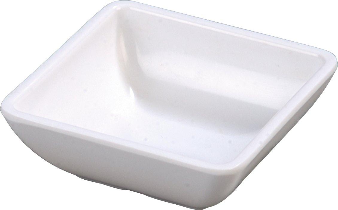 Carlisle 086002 Melamine Single Square Ramekin, 2 oz. Capacity, 2-3/4 x 2-3/4 x 1'', White