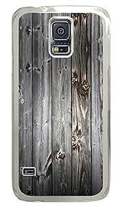 Samsung Galaxy S5 Gray Wood Background PC Custom Samsung Galaxy S5 Case Cover Transparent