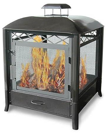 Amazon.com : Landmann 28107 The Aspen Outdoor Fireplace : Fire ...