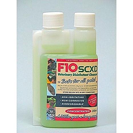 Desinfectante de veterinaria, F10SCXD, de 200 ml, limpiador, para ...
