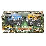 Wholesale 2 Piece Color Assortment 4'' Mayhem Machines Big Wheels Children's Toy Trucks - Case of 48