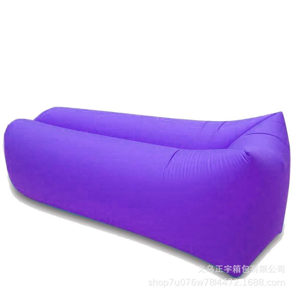 YUEZHANG Sofa Gonflable,Camping Portatif Pliable De Voyage De Plage Extérieure De Lit Pneumatique d\'air De Sofa, Pourpre, 230 * 70Cm